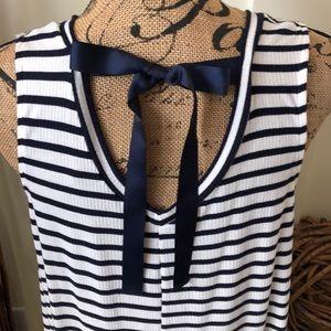 Trixxi Tops - Trixxi striped scarf hem tie back tunic
